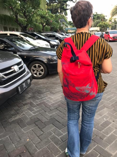 My Sackai Bag for OOTD Infinity War